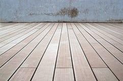 木地板和老墙壁 免版税图库摄影