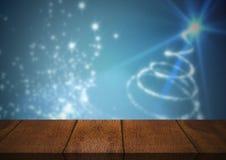 木地板有圣诞节题材背景 向量例证