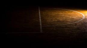 木地板篮球场 免版税库存图片