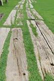 木地板草坪 免版税库存照片