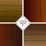 木地板集合,木纹理 向量例证