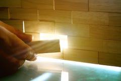 从木块做的墙壁 免版税图库摄影