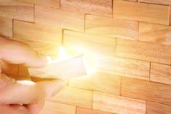从木块做的墙壁 库存照片