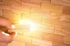 从木块做的墙壁 免版税库存照片