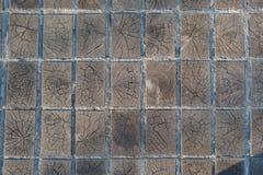 木块木材路面纹理背景 库存图片