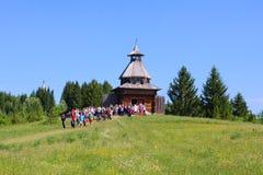 木城楼在博物馆Khokhlovka 库存图片
