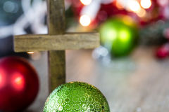 木基督徒发怒圣诞节题材 免版税库存图片