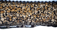木堆在冬天 库存图片