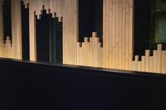 木墙壁不规则的图表,图表构造,设计样式 免版税库存图片