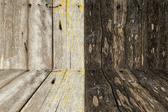 木墙壁和地板纹理和背景 图库摄影