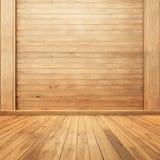 木墙壁和地板背景的您的房子的 免版税库存照片