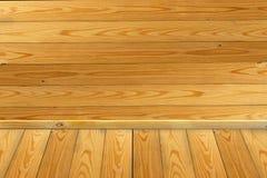 木墙壁和木头地板背景 库存图片