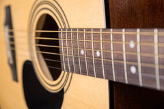 木声学吉他隔绝与一个大水平的计划 免版税库存图片