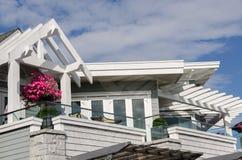 木大厦在温哥华 免版税库存图片
