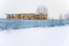 木大厦建设中 库存图片
