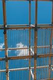 木天花板结构:与现代建筑Des的大厦 免版税库存图片