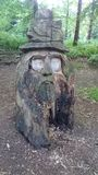 木头的巫术师 免版税库存照片