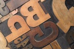 木头的接近的类型 库存照片