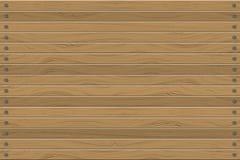 木头纹理镶板水平的墙壁,抽象背景传染媒介例证 免版税库存照片