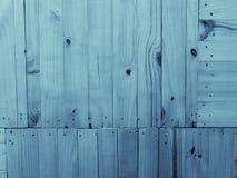 木头背景-蓝色颜色 免版税库存图片