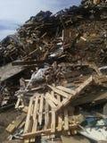 木头被回收的吨 图库摄影