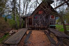 木头阿尔泰大师的创造性  免版税库存照片