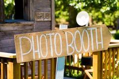 木婚姻的Photobooth标志 免版税库存照片