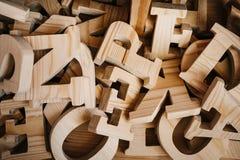 木字母表类型工艺供应产业 库存图片