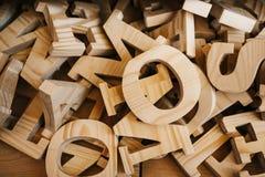 木字母表类型工艺供应产业 图库摄影