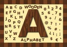 木字母表,大写 免版税库存照片