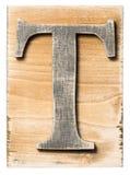 木字母表 免版税库存图片