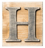 木字母表 库存照片