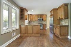 细木家具厨房橡木 库存照片