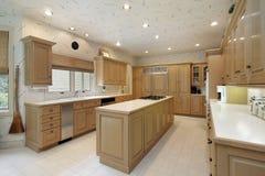细木家具厨房橡木 库存图片