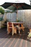 木家具的露台 免版税库存图片