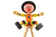 木小丑的玩具 免版税库存照片