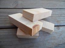 木小块的宏观照片 免版税库存照片