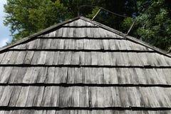 木小屋屋顶 库存照片