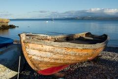 木小船。 免版税库存照片