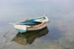 木小船的行 免版税图库摄影