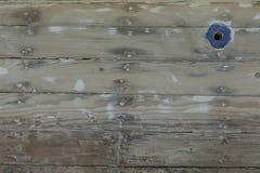 木小船背景 图库摄影