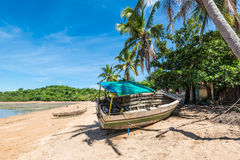 木小船,香是,马达加斯加 库存照片