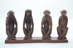 木小雕象 免版税库存图片