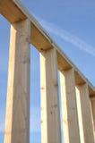 木屋新的墙壁 免版税库存图片