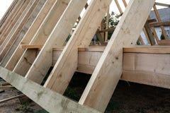 木屋零件的建筑 库存图片
