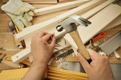 木工作 库存照片