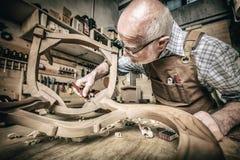 木工在工作 免版税库存图片