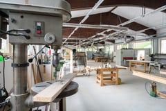 细木工技术或木匠业车间 免版税库存图片