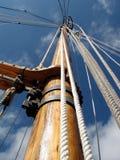 木帆柱的船 免版税库存图片