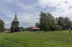 木建筑学博物馆,苏兹达尔 免版税库存照片